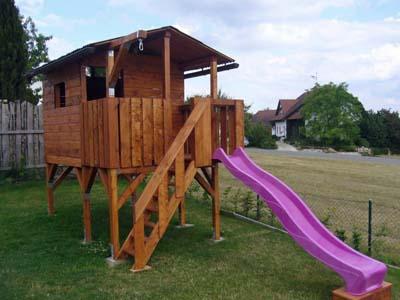 Stelzenhaus mit schaukel plan for Einfacher raumplaner
